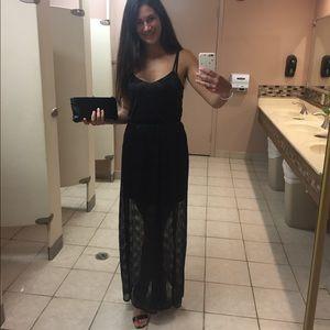 Miss Selfridge Black Chevron Formal Dress Size 2